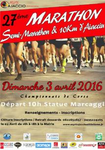 Le marathon d'Ajaccio, édition 2016