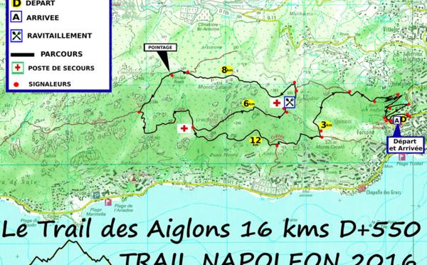 Le parcours du Trail des Aiglons 2016