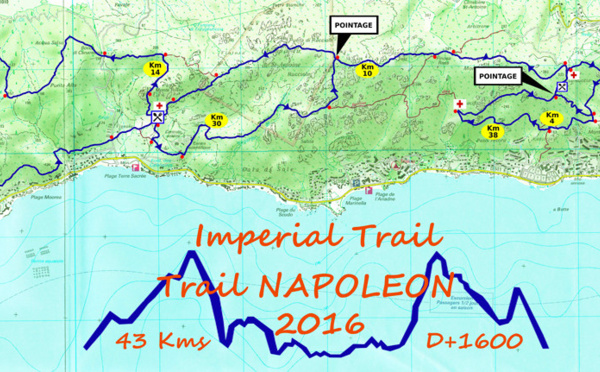 Le parcours de l'Imperial Trail 2016